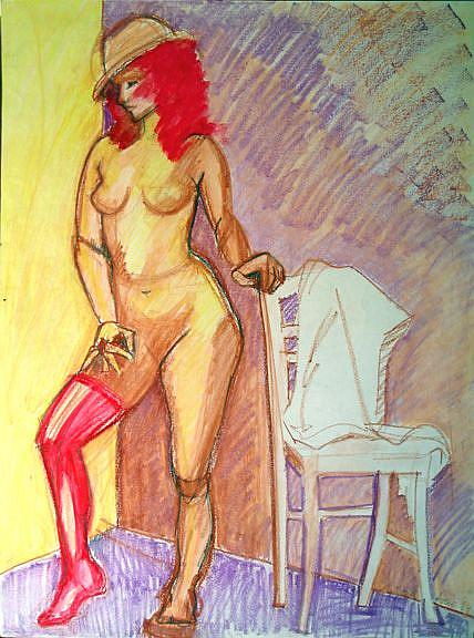 Art: Female figure III by Artist Muriel Areno