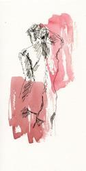 Art: Model Leaning by Artist Gabriele M.