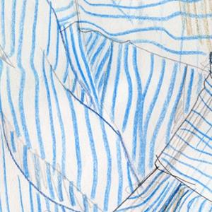 Detail Image for art Self-portrait with striped shirt