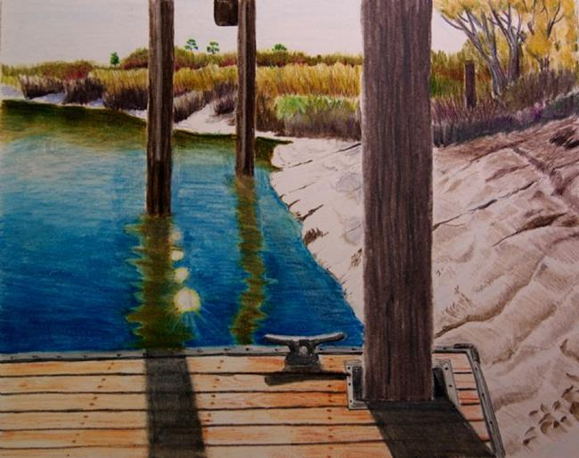 Art: Sunny Day at the Dock by Artist Robin Cruz McGee
