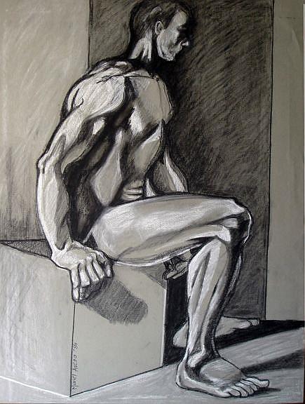 Art: Male study II by Artist Muriel Areno