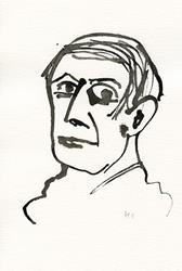 Art: Ink portrait 5 by Artist Gabriele M.