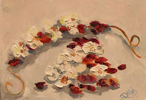 Art: Popcorn and Cranberries by Artist Delilah Smith