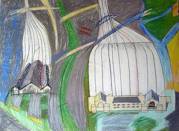 Art: Paris train station II by Artist Muriel Areno
