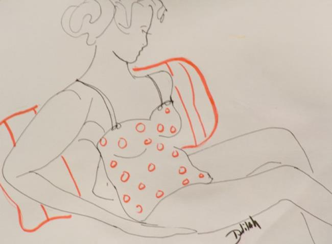 Art: Gesture Drawing by Artist Delilah Smith