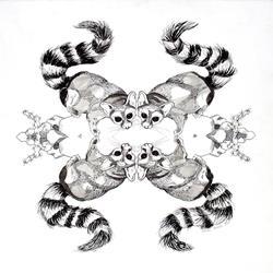 Art: Kaleidoscopic Lemurs by Artist Muriel Areno