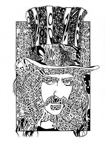 Art: Zappa by Artist Richard R. Snyder