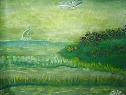 Art: GREEN BAY by Artist Melody Cole Gates