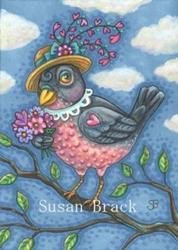 Art: ROBIN RED BREAST by Artist Susan Brack