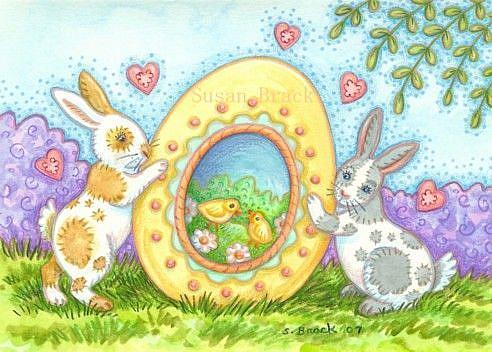 Art: BUNNIES' BEST by Artist Susan Brack