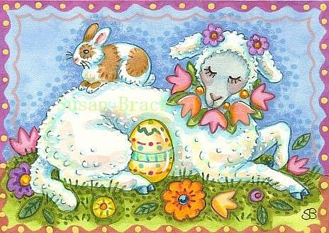 Art: EASTER LAMB by Artist Susan Brack