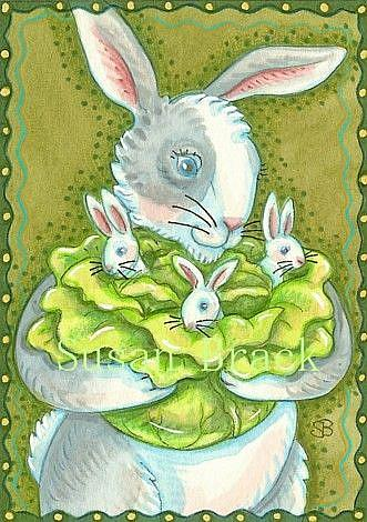 Art: CABBAGE PATCH BABIES by Artist Susan Brack
