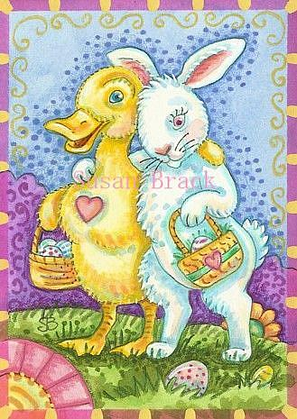 Art: EGG HUNT by Artist Susan Brack