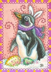 Art: EASTER PENQUIN by Artist Susan Brack