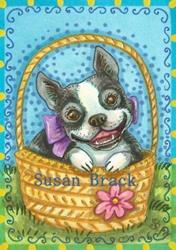 Art: BULLDOG BASKET by Artist Susan Brack