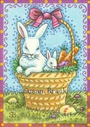 Art: EASTER SURPRISE Basket by Artist Susan Brack