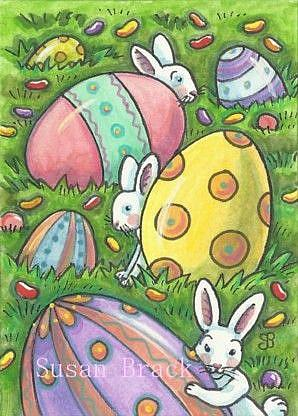 Art: I SPY EASTER BUNNIES by Artist Susan Brack