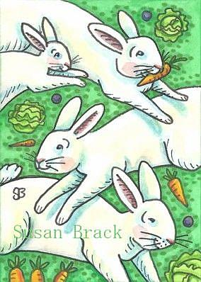 Art: SPRING COMES IN LEAPS AND BOUNDS by Artist Susan Brack