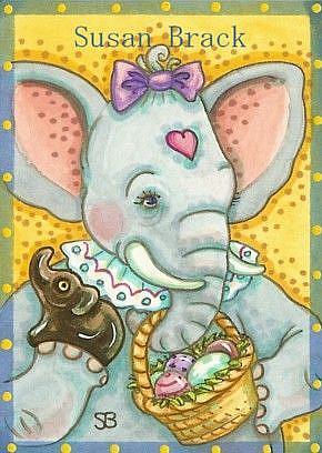 Art: ELLA'S EASTER BASKET by Artist Susan Brack