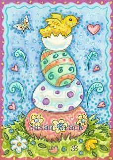 Art: HAPPY PEEP by Artist Susan Brack