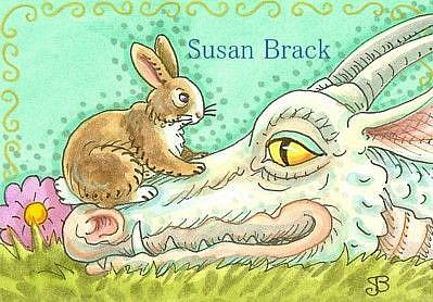 Art: HARE AND DRAGON by Artist Susan Brack