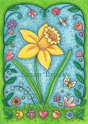 Art: DAFFODIL WELCOME by Artist Susan Brack