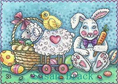 Art: EASTER SURPRISE by Artist Susan Brack