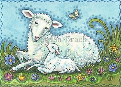 Art: SPRING TIME BABY by Artist Susan Brack