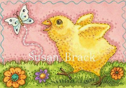 Art: BUTTERFLY AND PEEP by Artist Susan Brack