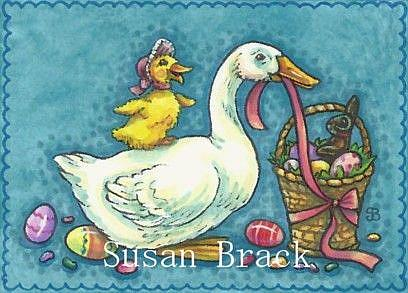 Art: DUCK EGGS MAKE A HAPPY EASTER by Artist Susan Brack