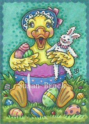 Art: AN EASTER EGG SURPRISE by Artist Susan Brack