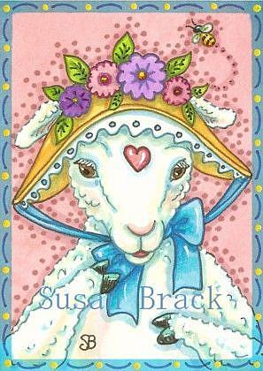 Art: BEE IN YOUR BONNET by Artist Susan Brack