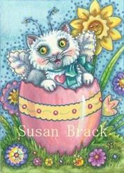 Art: SPRING BRINGS CATTERFLY KITTENS by Artist Susan Brack