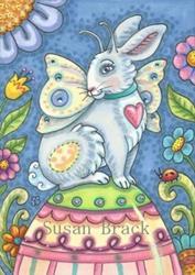 Art: EASTER EGG FAIRY by Artist Susan Brack