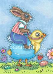 Art: EASTER RIDE by Artist Susan Brack