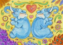 Art: BOOKENDS by Artist Susan Brack