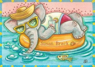 Art: BUBBLES AND PINK LEMONADE by Artist Susan Brack