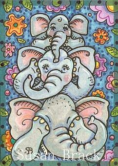 Art: ELEPHANTS SEE NO EVIL by Artist Susan Brack