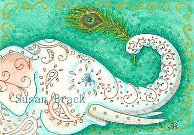 Art: EYE OF THE PEACOCK by Artist Susan Brack