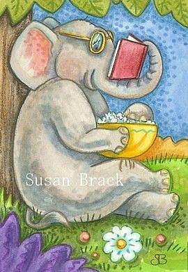 Art: SUMMER READ by Artist Susan Brack