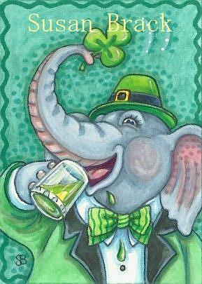 Art: TRUNK FULL OF IRISH CHEER by Artist Susan Brack