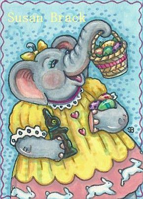 Art: ELLA'S EASTER by Artist Susan Brack