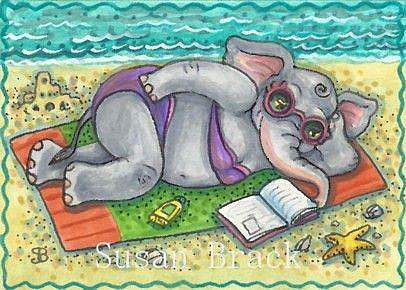 Art: BEACH BABE by Artist Susan Brack