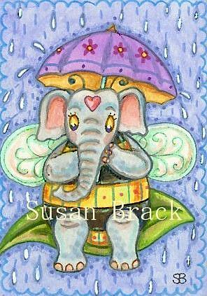 Art: WET BUMBLE by Artist Susan Brack