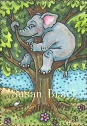 Art: UP A TREE by Artist Susan Brack