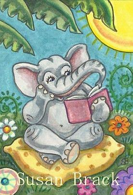 Art: DUMBO'S A REAL PAGE TURNER by Artist Susan Brack