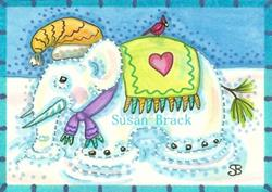 Art: ICICLE TUSKS by Artist Susan Brack