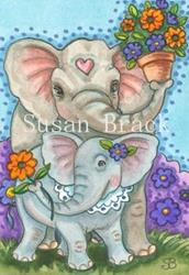 Art: FLOWER DELIVERY by Artist Susan Brack