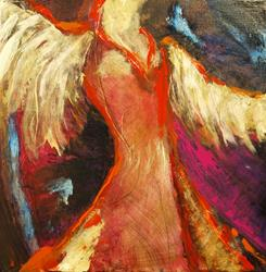 Art: Angel in Waiting by Artist Virginia Ann Zuelsdorf