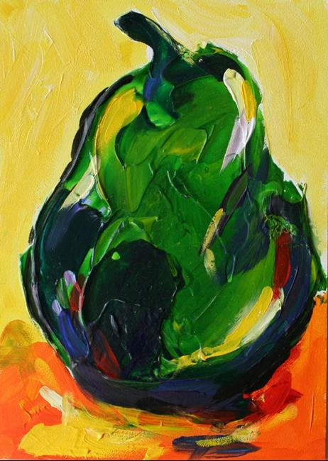 Art: Green Pear by Artist Laurie Justus Pace